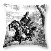 Escape Of Benedict Arnold Throw Pillow