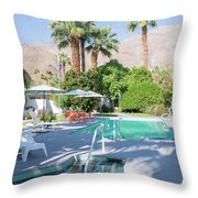 Escape Resort Throw Pillow by Ross G Strachan