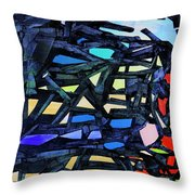 Escape Of The Blue-headed Capricorn From The Labyrinths Of Darkness Throw Pillow