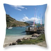 Escape To A Warmer Sunnier Place Throw Pillow