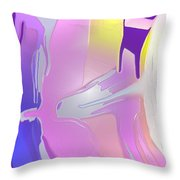 Escaping Rigidity Throw Pillow