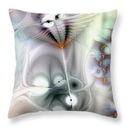 Escaping The Fires Of Consequence Throw Pillow