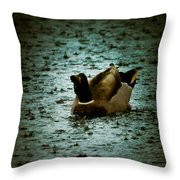 Escaping The Rain Throw Pillow