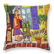 Esmorzant En Provence Throw Pillow