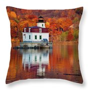Esopus Lighthouse In Late Fall #2 Throw Pillow