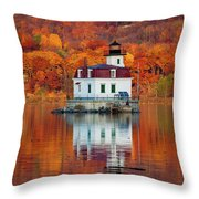 Esopus Lighthouse In Late Fall #3 Throw Pillow