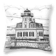 Esopus Meadows Lighthouse Throw Pillow by Richard Wambach