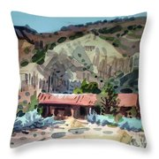 Espanola On The Rio Grande Throw Pillow