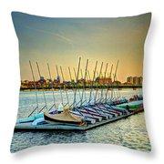 Esplanade Dock 023 Throw Pillow