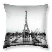 Esplanade Du Trocadero Throw Pillow