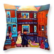 Esplanade Street Sabbath Walk Throw Pillow