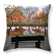 Esplanade View Throw Pillow by Susan Cole Kelly