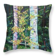 Essence Of Pale Bark Throw Pillow