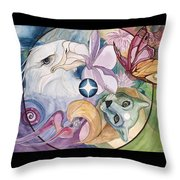 Essence Wheel Throw Pillow