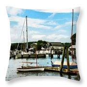 Essex Ct Marina Throw Pillow