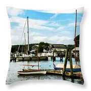 Essex Ct Marina Throw Pillow