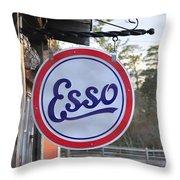 Esso Sign  Throw Pillow