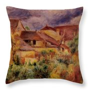 Essoyes Landscape 1884 Throw Pillow