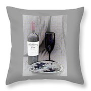 Est 2017 Blackberry Wine Throw Pillow