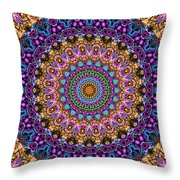 Estate Jewels Mandala No. 2 Throw Pillow