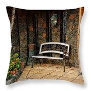 Estate St. Peter Greathouse And Botanical Gardens Throw Pillow