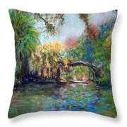 Estero River At Koreshan Throw Pillow
