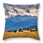 Estes Park From Glen Haven 3 Throw Pillow
