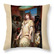 Esther Before Ahasuerus Throw Pillow