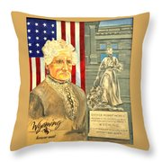 Esther Hobart Morris Throw Pillow