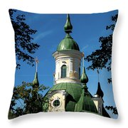 Estonian Church Orthodox And Baroque Throw Pillow