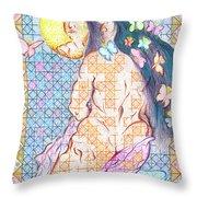 Estrella De La Manana Morning Star Throw Pillow