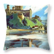 Esztergom, Beautiful City On Danube River, Hungary,  Throw Pillow