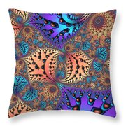 Etched Leaves Throw Pillow