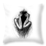 Etching 17 - Midnight Throw Pillow