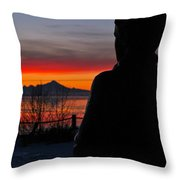 Eternal Sunset Throw Pillow