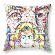 Eternidad- Sombra De Arreguin Throw Pillow