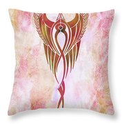 Ethereal Flight Contemporary Minimalism Throw Pillow