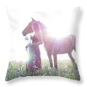 Ethereal Love Throw Pillow
