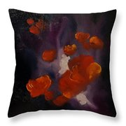 Ethereal Poppies                     81 Throw Pillow