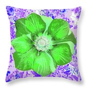 Ethereal Purple Poppy Too Throw Pillow