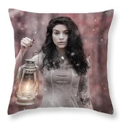 Ethereal Snow Beauty Throw Pillow