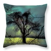 Ethereal Trees Throw Pillow