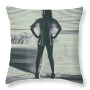 Ethereal Woman Throw Pillow