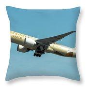 Ethiad Cargo Boeing B777 Throw Pillow