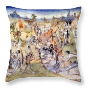 Ethiopia, C1460 Throw Pillow