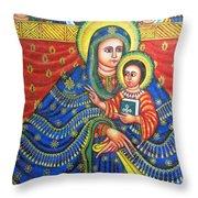 Ethiopian Angels Throw Pillow