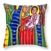Ethiopian Mary And Jesus Throw Pillow