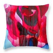 Etoile De Holland Rose Throw Pillow