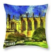 Eton College Chapel Art Throw Pillow