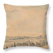 Eton College From The South Throw Pillow